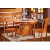 普尼狄天然大理石实木餐桌 型号 8801