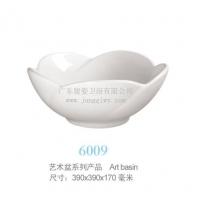 荷花艺术盆,39cm,立体3D感陶瓷盆