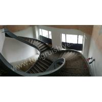 昆山壹号花园 异型钢结构楼梯