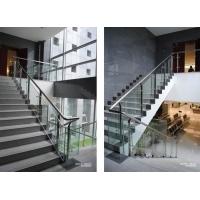 办公楼不锈钢玻璃楼梯扶手