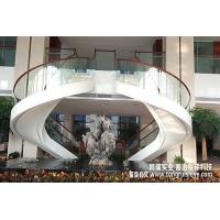 钢结构玻璃楼梯 大型景观楼梯