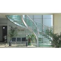 同瑞供应玻璃弧形楼梯制作安装  工厂直销