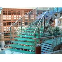 同瑞供应酒店 会所发光玻璃楼梯制作安装  工厂直销