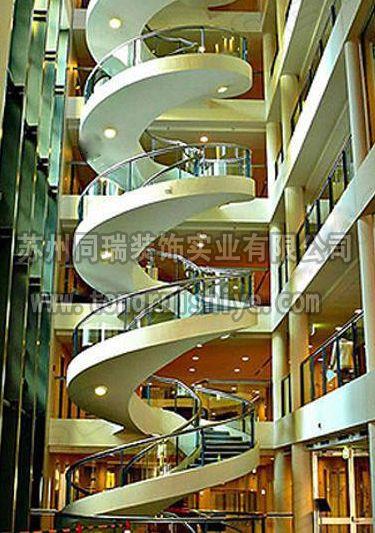 同瑞供应大型旋转工程楼梯订做 工厂直销