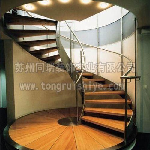 同瑞供应双钢板玻璃楼梯|旋转玻璃楼梯|酒店楼梯