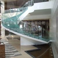双钢板旋转玻璃楼梯