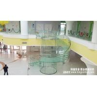 苹果店同款全玻璃旋转楼梯-同瑞实业制作