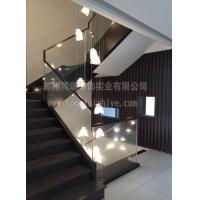 同瑞定制钢木楼梯玻璃栏杆 工厂直销