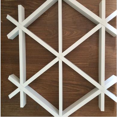 广州铝格栅吊顶厂家直销 三角铝格栅
