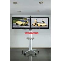 高档双屏会议厅展示架303240455055寸液晶电视落地移