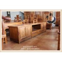 古典中式 木质雕花方形电视柜 灯影仿古家具