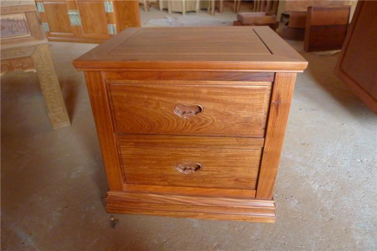 缅甸花梨木 中式古典床头柜
