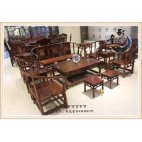 清式红木沙发 新会灯影仿古家具 圈椅沙发十件套