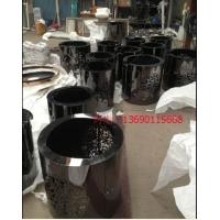 镜面不锈钢花盆 圆柱不锈钢花盆 几何图形不锈钢花盆