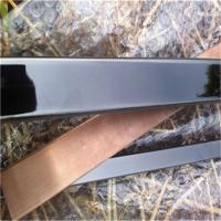 拉丝电镀不锈钢黑钛金方管40*40*1.2mm