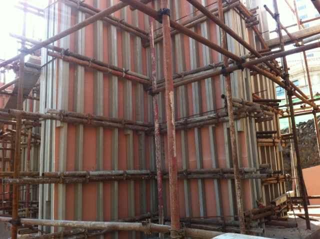 代替木模板的木塑建筑模板