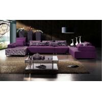 佛山亿思家具 典雅高贵紫色布艺转角沙发A011B