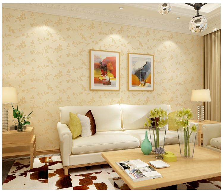 刺绣提花无缝墙布欧式田园简约客厅卧室亚麻壁布墙纸电视背景墙布