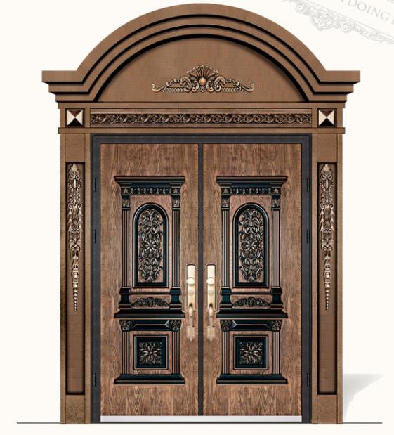 德斯杰DSJ-8208罗马风情(黄金)铸铝门