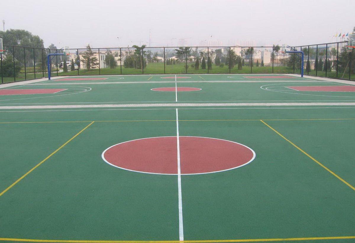 硅PU运动篮球场网球场