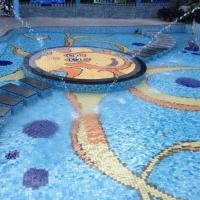 琼海酒店泳池拼花马赛克