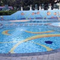 泉州游泳池马赛克拼花