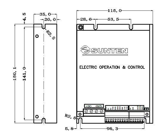 智能型直流电机驱动器 12V,24V,36V,48V;20A,30A,40A,50A, RS232,PLS,PWM,0-5V/10V,0-2.5V-5V; 一、性能特点  采用高性能32位MCU,智能PID运动控制算法  通过上位机软件进行参数设置、调试  宽电压输入 10V-55V  四种工作模式:速度开环模式、速度闭环模式、闭环扭矩模式、开环扭矩模式  多种控制方式:RS232通讯、PLS、PWM、0-5V/10V、0-2.