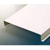 江苏徐州喷涂白色平板铝勾搭 条形铝扣板吊顶厂家直销
