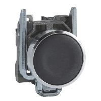 施耐德XB4BA21按钮 黑色弹簧复位 1NO