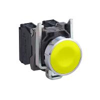 施耐德XB4BA51按钮黄色弹簧复位 1NO