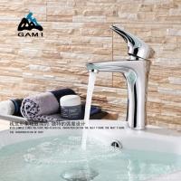 GAMI 冷热水龙头 面盆龙头 全铜加高台盆洗手盆龙头