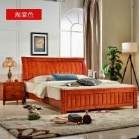 金座标橡木床 全实木床 海棠色橡木床,大气稳重