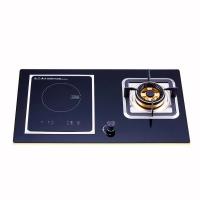 韩代家用电磁炉+燃气灶全优质钢化玻璃双眼燃气灶