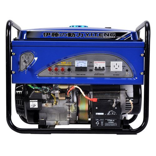 电启动8KW汽油发电机 三相四线汽油发电机