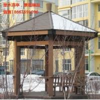 威海木塑涼亭 塑木材料 直銷木涼亭