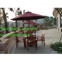 广西防城港木制桌椅 户外庭院实木桌椅 厂家定制休闲桌椅