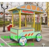流动木质花车 小区广场户外中式售货车