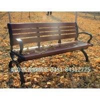 户外休闲路椅-铸铝腿园林椅