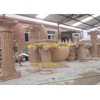 北京砂岩景观雕塑公司,砂岩罗马柱雕塑定做