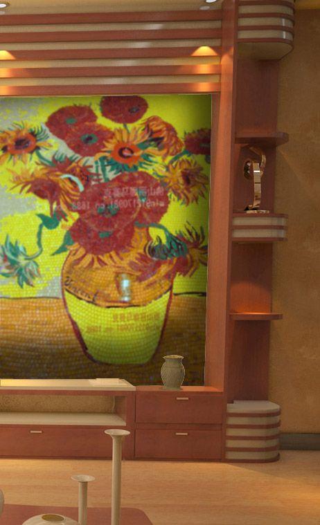 丽娜马赛克梵高向日葵剪画拼图包邮厂家直销包邮产品图片,丽娜马赛