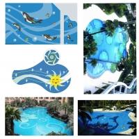 供应陶瓷玻璃游泳池拼图瓷砖 水池装饰