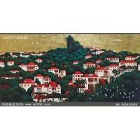 山东现代装饰画之红房子