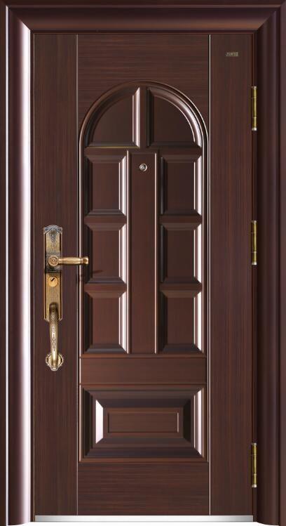 219御墅-10公分甲级精雕铸铝防盗门-2#铜+白色