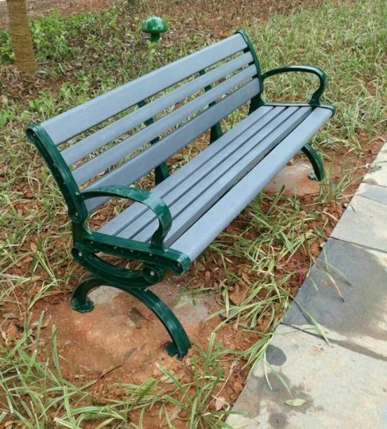 休闲椅 塑木公园椅 小区户外休闲座椅