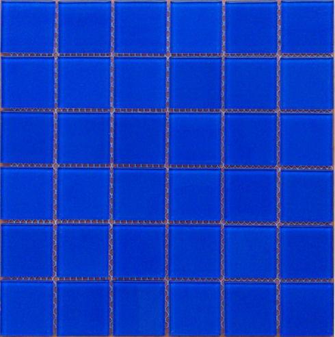 房地产小区水池深蓝色玻璃马赛克瓷砖