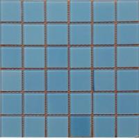 天蓝色泳池玻璃马赛克别墅酒店休闲场所水池