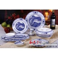 景德镇陶瓷餐具,礼品陶瓷餐具,高档礼品餐具定制