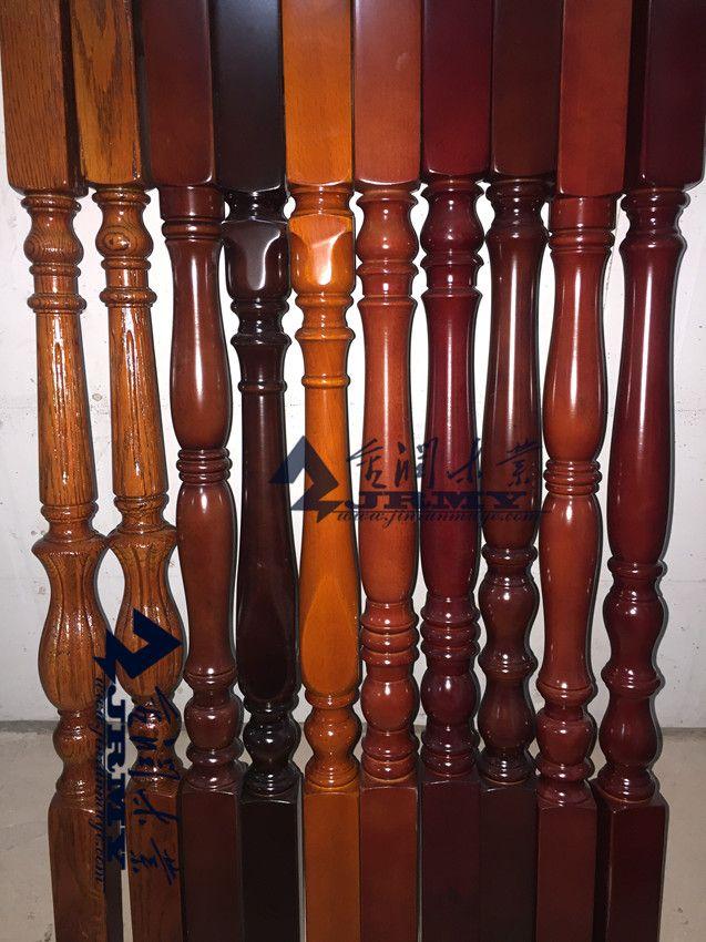榉木红橡实木楼梯整梯烤漆立柱子图片细节扶手踏步护栏图片