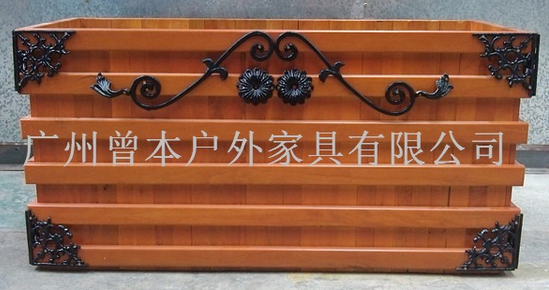 全实木长方形花盆碳化防腐木正方形花盆阳台花盆花箱
