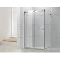 卫浴新技术不锈钢方形两梗一活吊趟门(8MM-10MM)